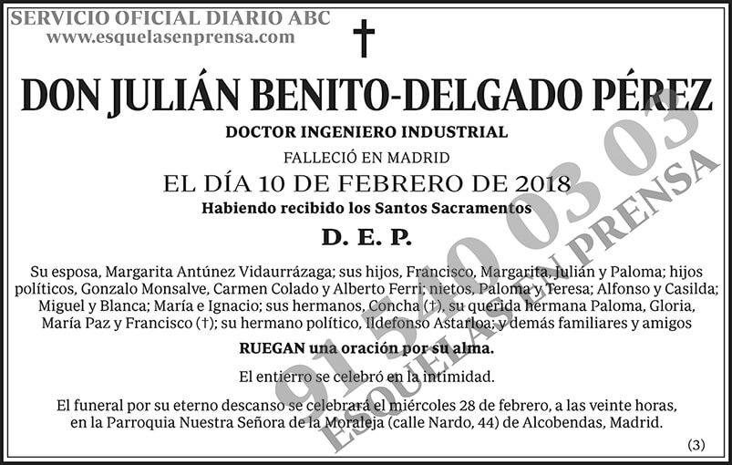 Julián Benito-Delgado Pérez